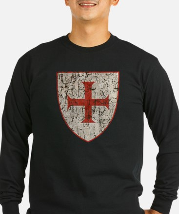 Templar Cross, Shield Long Sleeve T-Shirt
