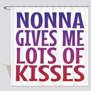 Nonna Gives Me Lots OF Kisses Shower Curtain