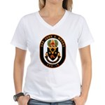 USS JOHN A. MOORE Women's V-Neck T-Shirt