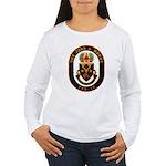 USS JOHN A. MOORE Women's Long Sleeve T-Shirt