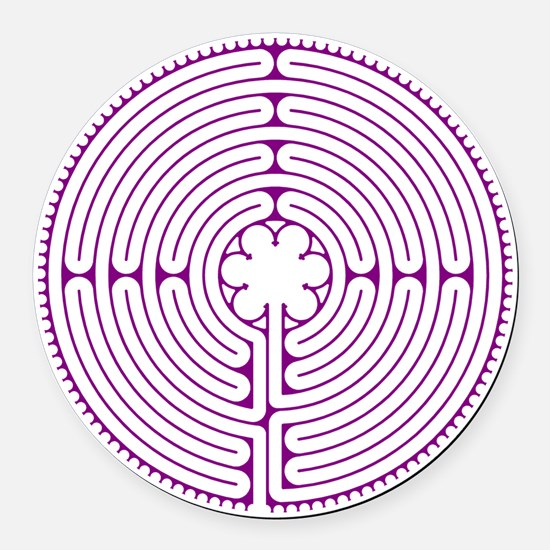 Chartres Labyrinth Round Car Magnet