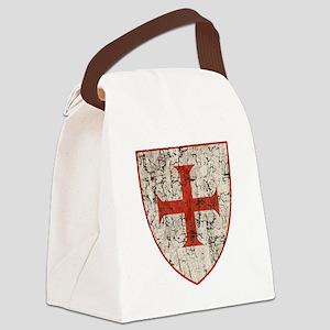 Templar Cross, Shield Canvas Lunch Bag