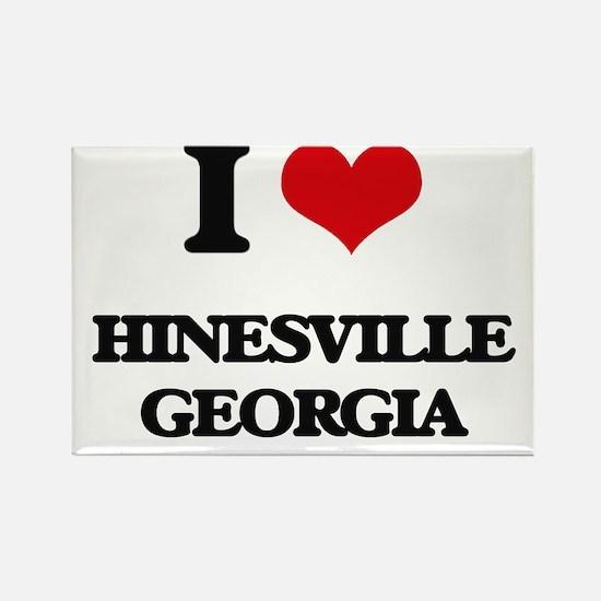 I love Hinesville Georgia Magnets