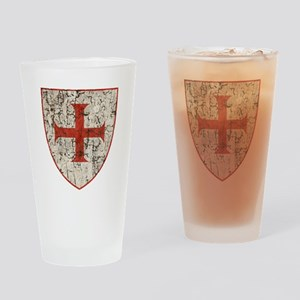 Templar Cross, Shield Drinking Glass