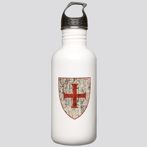 Templar Cross, Shield Water Bottle