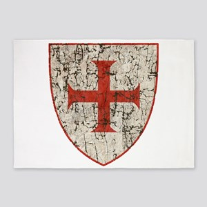 Templar Cross, Shield 5'x7'Area Rug