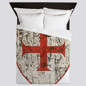 Templar Cross, Shield Queen Duvet