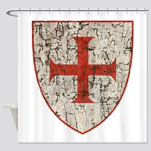 Templar Cross, Shield Shower Curtain
