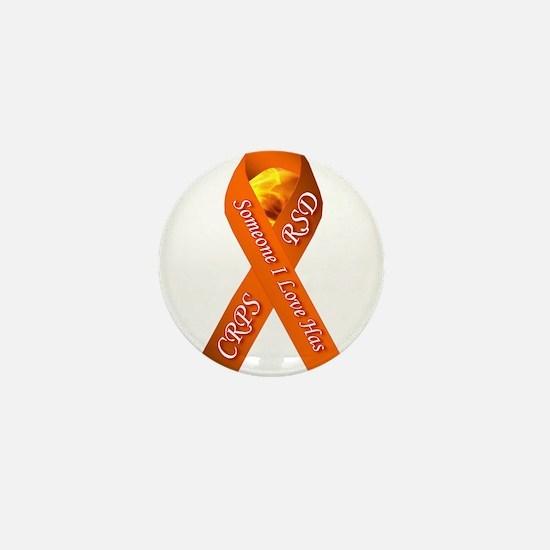 Someone I Love has CRPS -HR- Orange Ri Mini Button