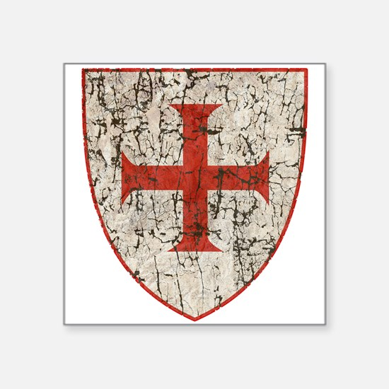 Templar Cross, Shield Sticker