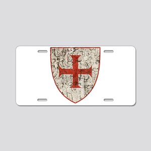 Templar Cross, Shield Aluminum License Plate