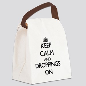 Keep Calm and Droppings ON Canvas Lunch Bag