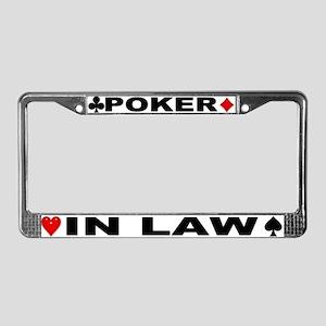 Poker In-Law License Plate Frame