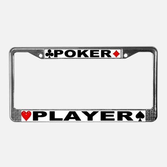 Poker Player License Plate Frame