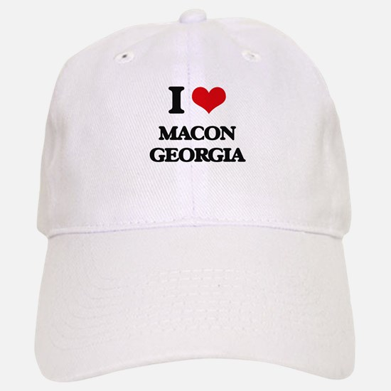 I love Macon Georgia Baseball Baseball Cap