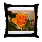 Orange Rose Meaning Throw Pillow
