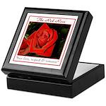 Red Rose Meaning Keepsake Box