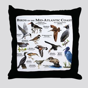 Birds of the Mid-Atlantic Coast Throw Pillow