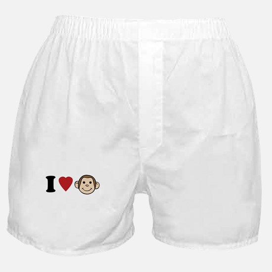 I Heart Monkeys Boxer Shorts