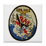 USS HALE Tile Coaster