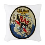 USS HALE Woven Throw Pillow