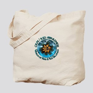 CRPS RSD Awareness World of Fire Ice Gr Tote Bag