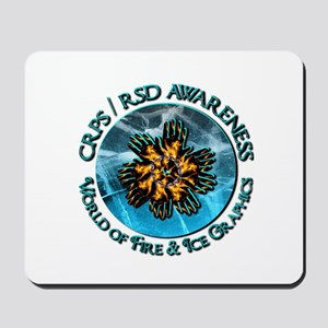 CRPS RSD Awareness World of Fire Ice G Mousepad