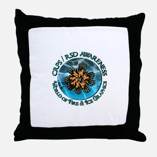 CRPS RSD Awareness World of Fire Ic Throw Pillow
