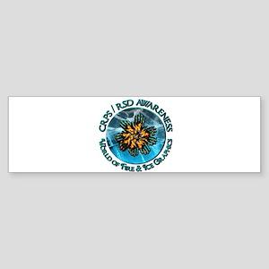 CRPS RSD Awareness World of Fire Bumper Sticker
