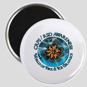 CRPS RSD Awareness World of Fire Ice Gra Magnets