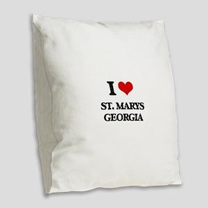 I love St. Marys Georgia Burlap Throw Pillow
