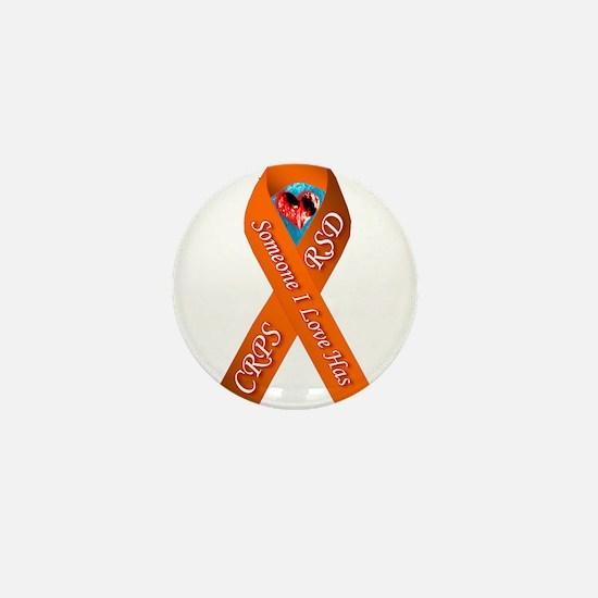 Someone I Love has CRPS Orange Ribbon Mini Button