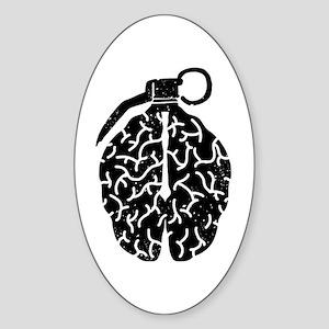 Mind Bomb Sticker (Oval)