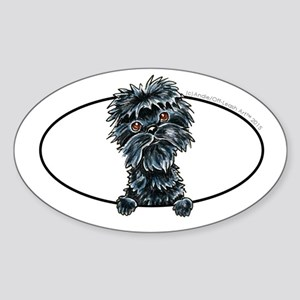 Affenpinscher Peeking Sticker