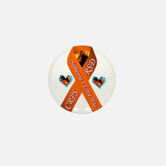 Someone I Love has CRPS RSD Orange Rib Mini Button