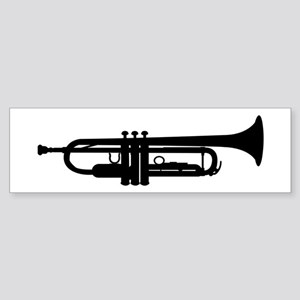 Trumpet Silhouette Bumper Sticker