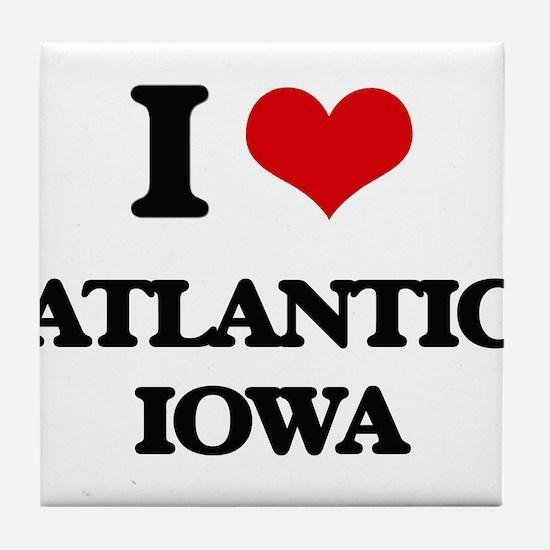 I love Atlantic Iowa Tile Coaster