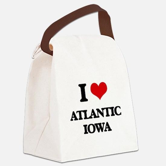 I love Atlantic Iowa Canvas Lunch Bag