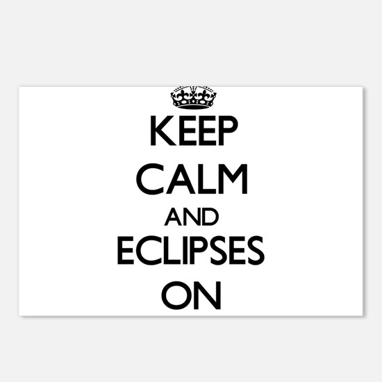 Keep Calm and ECLIPSES ON Postcards (Package of 8)