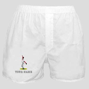 Softball Pitcher (Custom) Boxer Shorts