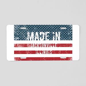 Made in Jacksonville, Illin Aluminum License Plate
