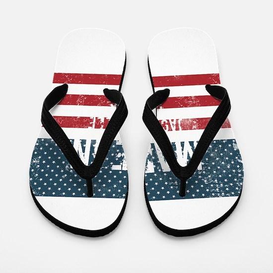 Made in Jacksonville, Illinois Flip Flops
