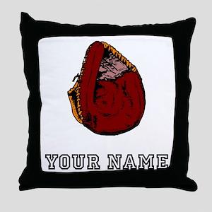 Catchers Mitt (Custom) Throw Pillow