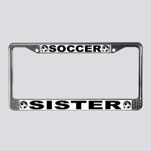 World Cup Soccer Sister License Plate Frame