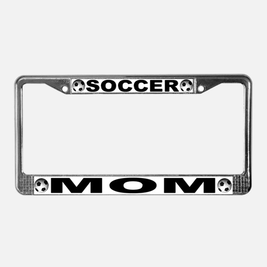World Cup Soccer Mom License Plate Frame