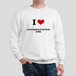 I love Columbus Junction Iowa Sweatshirt