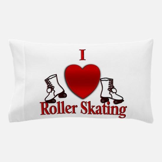 I Heart Roller Skating Pillow Case