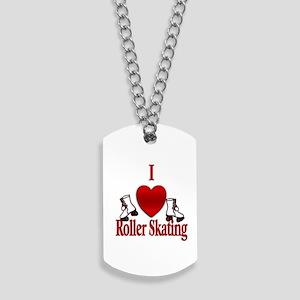 I Heart Roller Skating Dog Tags