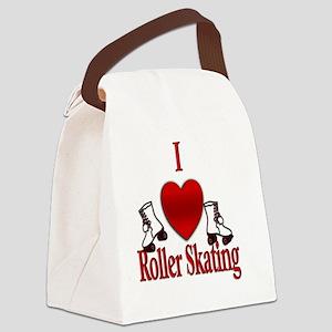 I Heart Roller Skating Canvas Lunch Bag