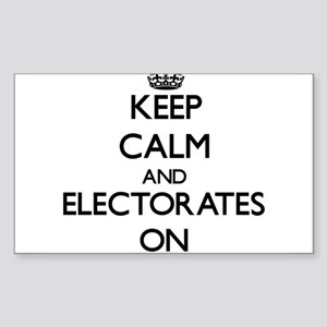 Keep Calm and ELECTORATES ON Sticker